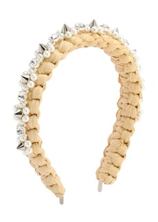Simone Rocha Embellished Raffia Headband