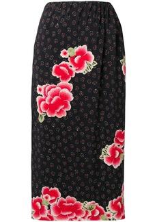 Simone Rocha floral midi skirt