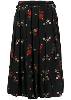 Simone Rocha floral pleated skirt