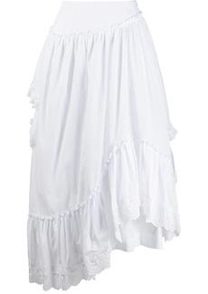 Simone Rocha frill-trim asymmetric skirt