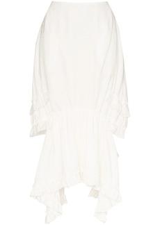 Simone Rocha embroidered ruffle midi skirt