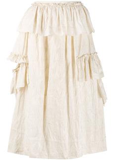 Simone Rocha ruffle-detail high-waist skirt