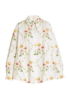 Simone Rocha - Women's Oversized Floral Cotton Shirt - Floral - Moda Operandi