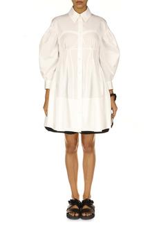 Simone Rocha Corset Detail Cotton Shirtdress