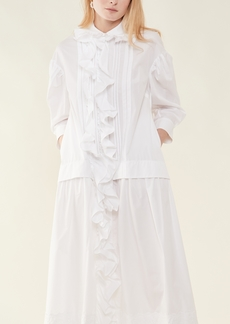 Simone Rocha Frill Front Pleated Smock Dress