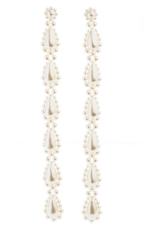 Simone Rocha Long Imitation Pearl Earrings