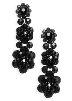 Simone Rocha Tiered Crystal Drop Earrings