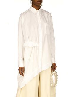 Simone Rocha Twisted Hip Asymmetrical Shirt