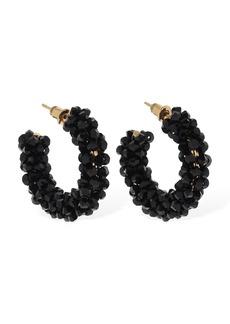 Simone Rocha Small Beaded Hoop Earrings