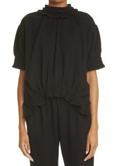 Women's Simone Rocha Ruffle Puff Sleeve Top