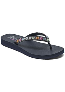 Skechers Women's Cali Meditation Daisy Delight Flip-Flop Thong Athletic Sandals from Finish Line