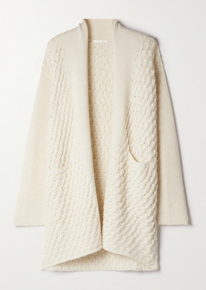 skin Amaya Paneled Alpaca-blend Cardigan