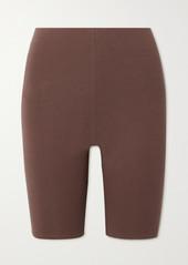 skin Aphrodite Stretch Organic Pima Cotton-jersey Shorts