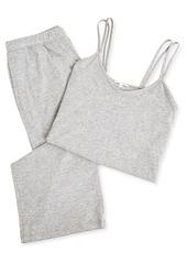skin Calista Organic Cotton Double-Strap Camisole Pajama Set