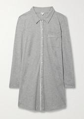 skin Cecilia Mélange Organic Pima Cotton-jersey Nightdress
