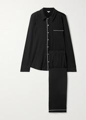 skin Cecilia Organic Pima Cotton-jersey Pajama Set