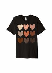 Diversity Hearts Skin Tone Hearts Premium T-Shirt