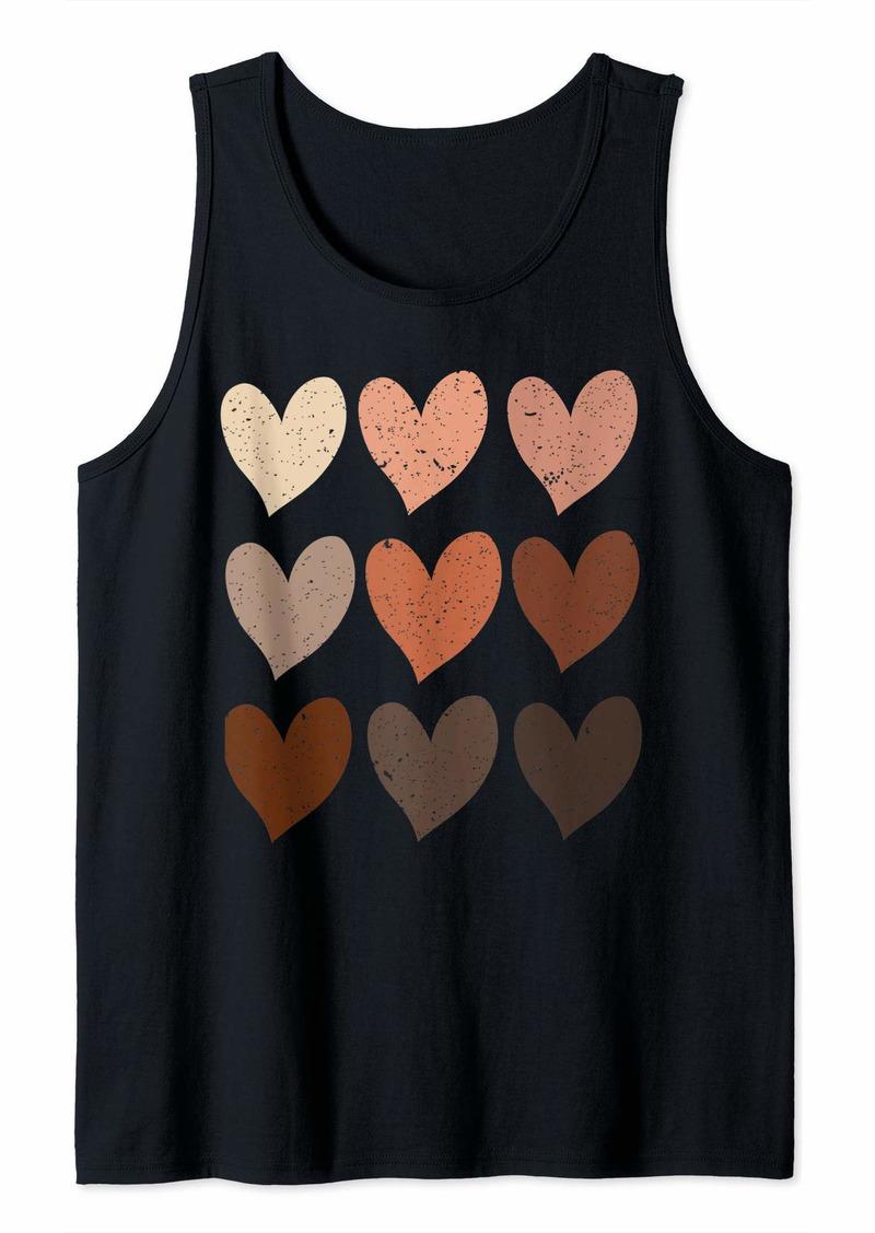 Diversity Hearts Skin Tone Hearts Tank Top
