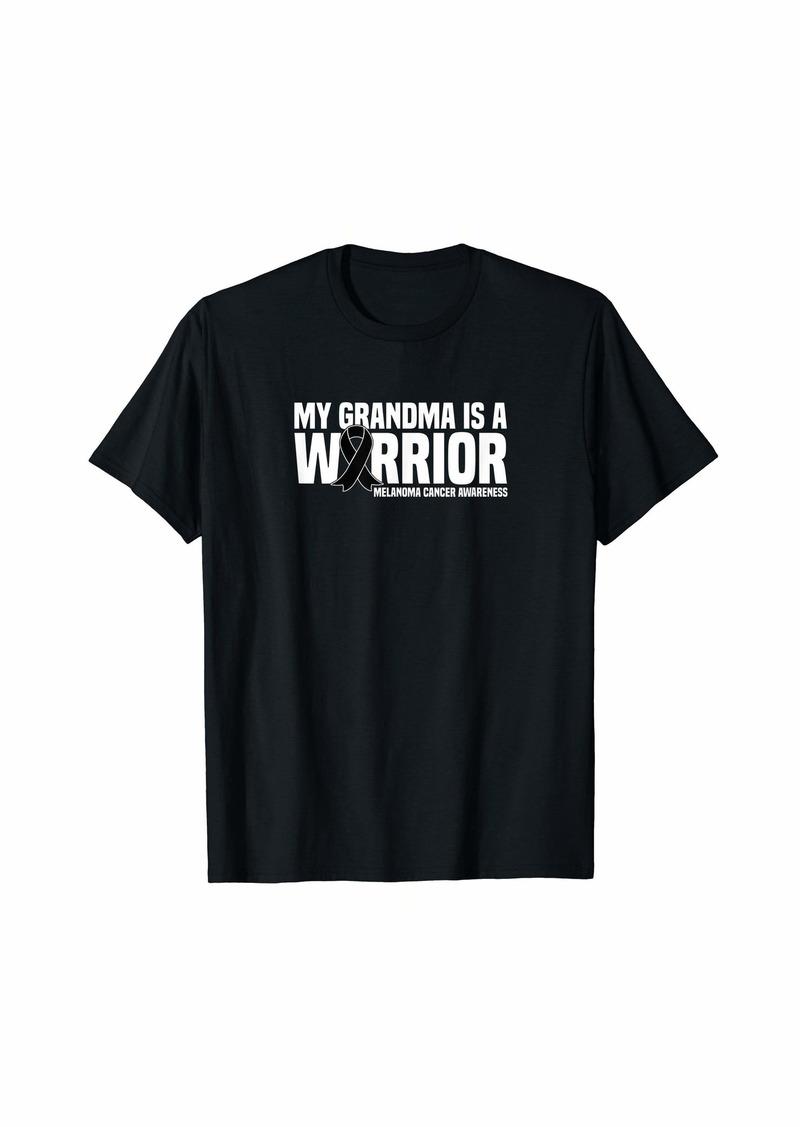 skin Grandma is a Warrior  Ribbon Melanoma Cancer Awareness T-Shirt
