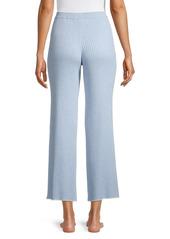 skin Maddie Rib-Knit Cotton & Cashmere Pants