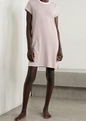 skin Net Sustain Madina Striped Stretch Organic Pima Cotton And Modal-blend Nightdress