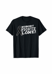 skin Melanoma Awareness Family Nobody Fights Alone Gift T-Shirt