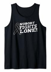 skin Melanoma Awareness Family Nobody Fights Alone Gift Tank Top