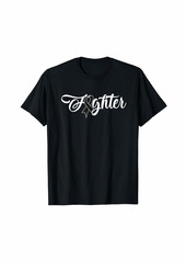 skin Melanoma Awareness Shirt Fighter Ribbon Gift T-Shirt