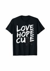 skin Melanoma Awareness Shirt Love Hope Cure Ribbon Gift T-Shirt