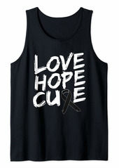 skin Melanoma Awareness Shirt Love Hope Cure Ribbon Gift Tank Top