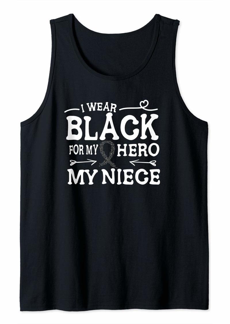 skin Melanoma Awareness Shirt Niece Ribbon Gift Tank Top