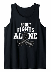 skin Melanoma Awareness Shirt Nobody Fights Alone Gift Tank Top