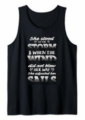 skin Melanoma Awareness Shirt Stood the Storm Gift Tank Top