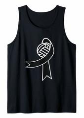 skin Melanoma Awareness Shirt Volleyball Ribbon Gift Tank Top