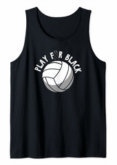 skin Melanoma Awareness Shirt Volleyball Ribbon Gift Tank Top
