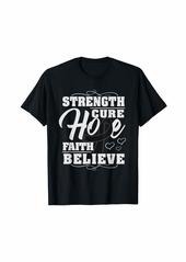 skin Melanoma Awareness Strength Ribbon Shirt Gift T-Shirt