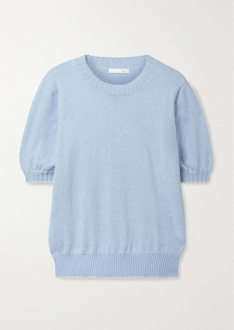 skin Mirren Cotton And Cashmere-blend Sweater