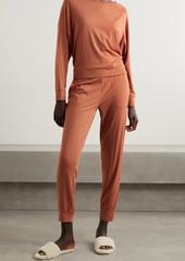 skin Net Sustain Moira Stretch Organic Pima Cotton And Modal-blend Track Pants