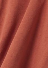 skin Net Sustain Aphrodite Reversible Stretch Organic Pima Cotton-jersey Shorts