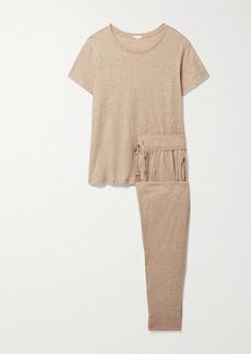 skin Net Sustain Carleen Organic Pima Cotton-jersey Pajama Set