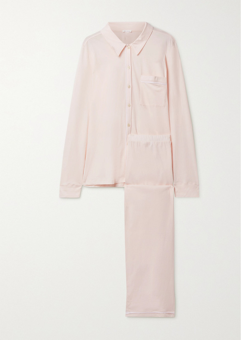 skin Net Sustain Cecilia Organic Pima Cotton-jersey Pajama Set