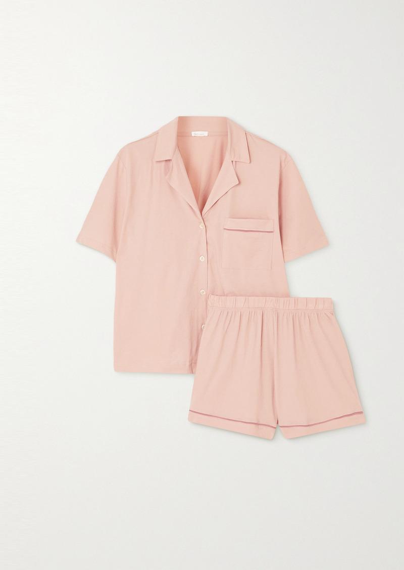 skin Net Sustain Celina Organic Pima Cotton-jersey Pajama Set