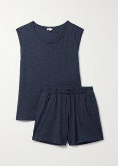 skin Net Sustain Cera Organic Pima Cotton-jersey Pajama Set
