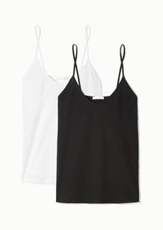 skin Net Sustain Essentials Set Of Two Organic Pima Cotton-jersey Camisoles