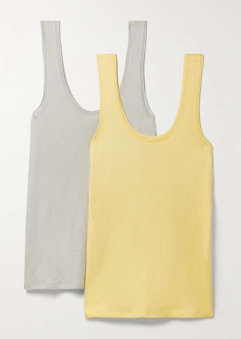 skin Net Sustain Gal Set Of Two Organic Pima Cotton-jersey Tanks