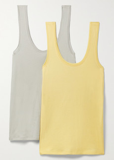 skin Net Sustain Gal Set Of Two Organic Pima Cotton-jersey Tanks