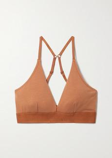 skin Net Sustain Hadlee Stretch-organic Pima Cotton Soft-cup Triangle Bra