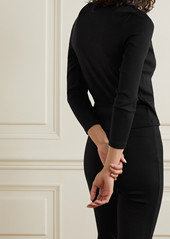 skin Net Sustain Isabel Ribbed Stretch-organic Pima Cotton Jersey Wrap Top