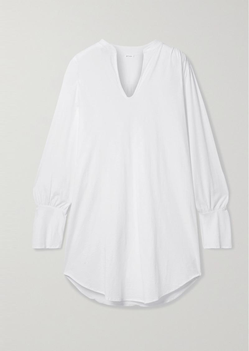 skin Net Sustain Kyla Organic Pima Cotton-jersey Pajama Top
