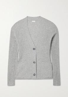 skin Net Sustain Wayde Ribbed Organic Cotton-blend Cardigan